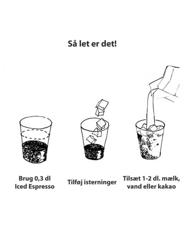 Iced Espresso Koffeinfri Økologisk Original 16 shots ½ liter-014